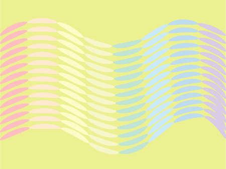 Wave of elongated multicolored ovals Illustration