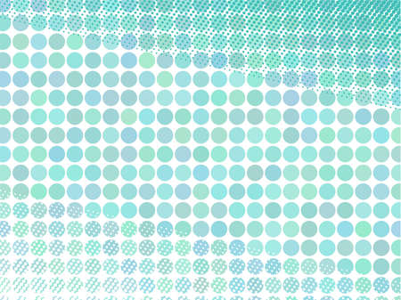 retro background of the circles with halftone elements  Illustration
