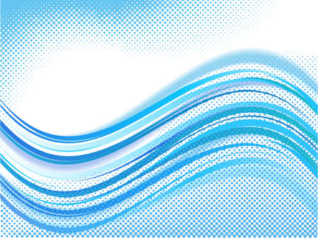 abstract wave with halftone elements  on white background Stock Vector - 7986718