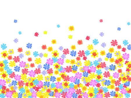 bright floral background. illustration