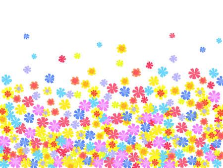 funky background: bright floral background. illustration