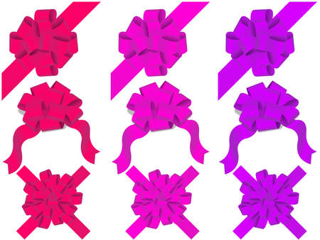 inkle: holiday bows and ribbon on white background