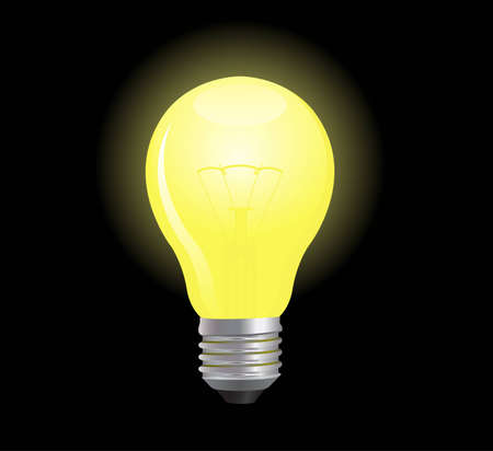 tungsten: Bright and glowing light bulb