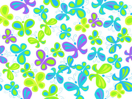 seamless background with butterflies Stock Vector - 7986789
