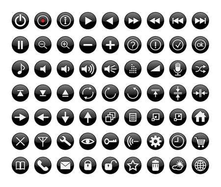 control panel: Tasti del pannello di controllo di interfaccia multimediale