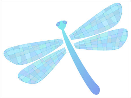 colored dragonfly  Illustration