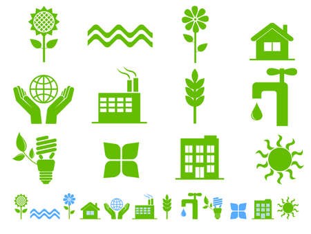 Earth conservation and ecology icon set Stock Vector - 7988567
