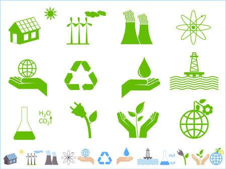 enviromental: Conjunto de iconos de Ecolog�a y conservaci�n de tierra