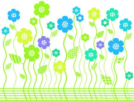 elegant bright flower border Stock Vector - 7986918
