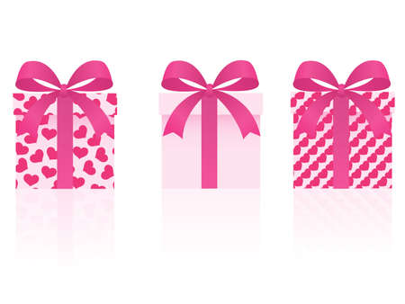 vector valentines day gifts set