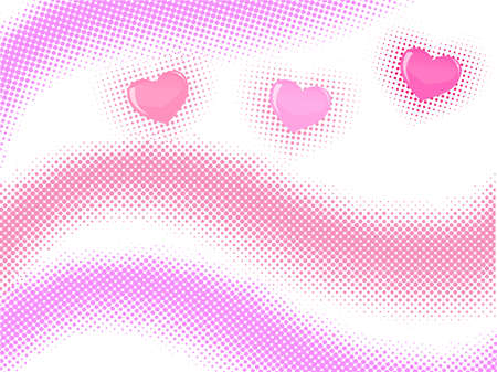 halftone wave with hearts
