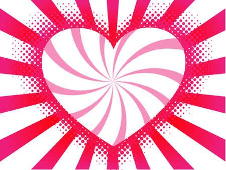 contour heart of halftone elements Stock Vector - 7986862