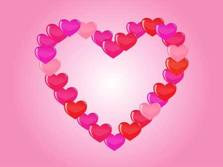 coraz�n de contorno de corazones  Foto de archivo - 7986922