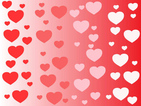 red pink and white hearts on a gradient background Stock Vector - 9762420