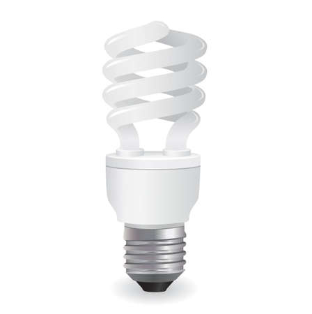 fluorescent: ecological lightbulbs icon in format