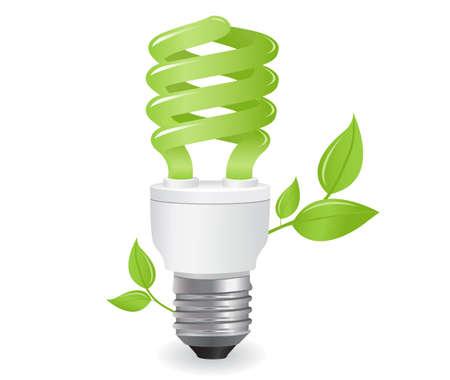 risparmio energetico: icona di lampadine ecologiche in formato  Vettoriali