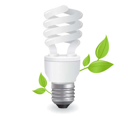 ecological lightbulbs icon in format