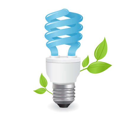 fluorescent: ecological lightbulbs icon