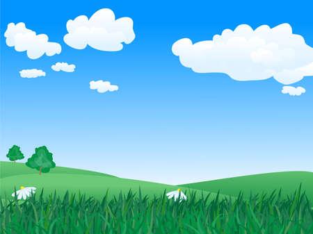 paisaje de verano pac�fica y tranquila