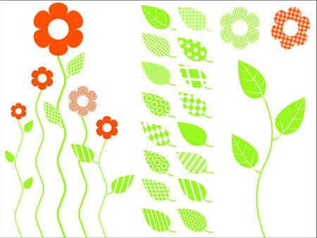 illustration.Leaves.Elements for design Vector