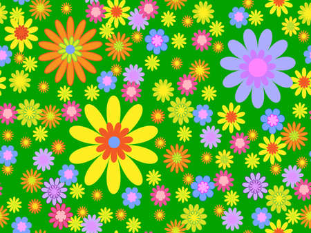 seamless bright floral background Stock Vector - 7986555