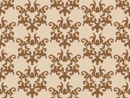 seamless retro wallpaper background Stock Vector - 7986506
