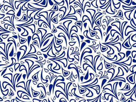 retro revival: abstract blue on white background