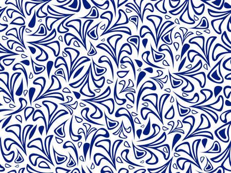 Resumen azul sobre fondo blanco