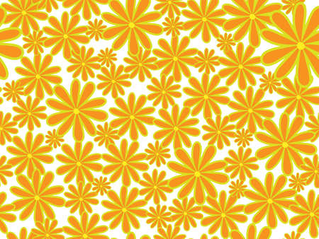 bright  seamless  floral background. illustration Vector