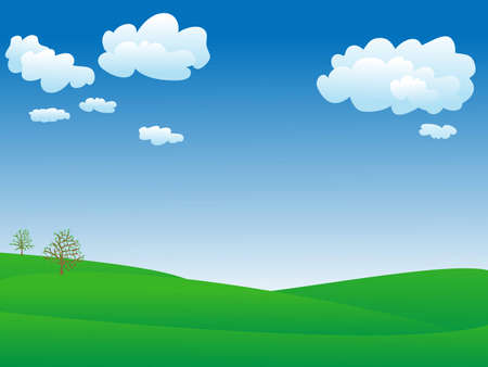 peaceful and calm spring landscape Vector