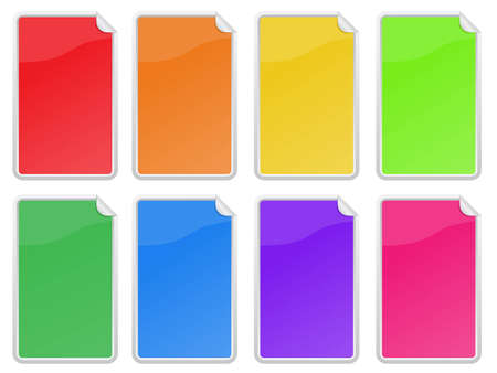 sticker set in 8 colors