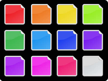 sticker set in 12 colors
