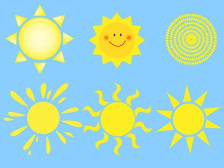 illustration sun set Illustration