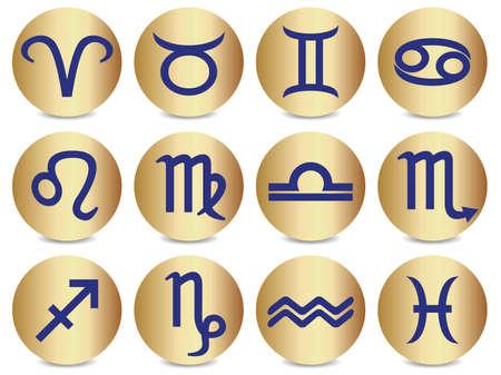 Iconos que representan los doce signos del zod�aco.