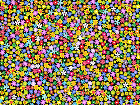 seamless  floral background.vector illustration