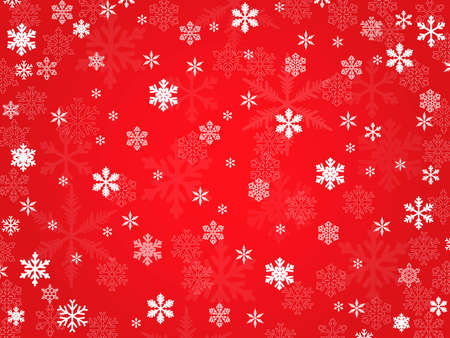 vector  background of transparent snowflakes Illustration