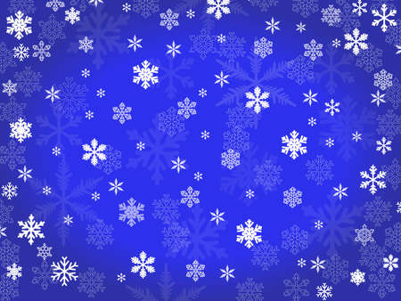 vector  background of transparent snowflakes Stock Vector - 8155702
