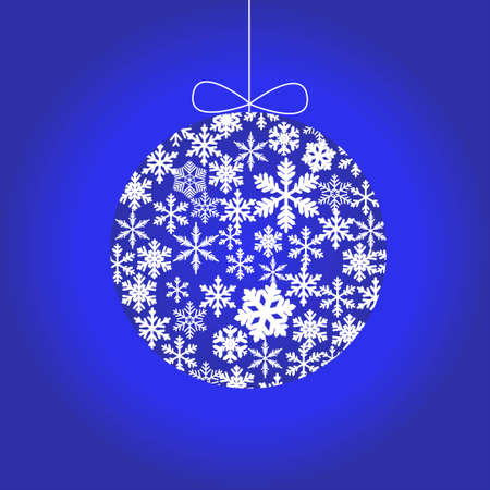 christmas ball made of snowflakes Illustration