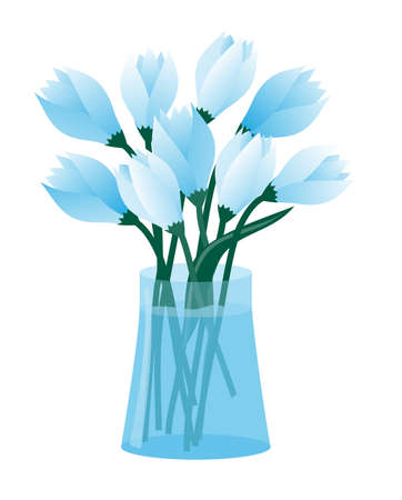 vector illustration flowers in vase Stock Vector - 8155631