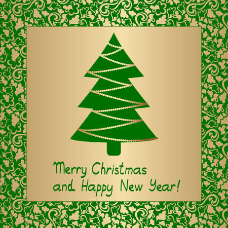 abstract christmass tree card Stock Vector - 8155688