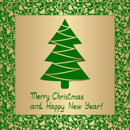 christmass: tarjeta de �rbol de christmass abstracta