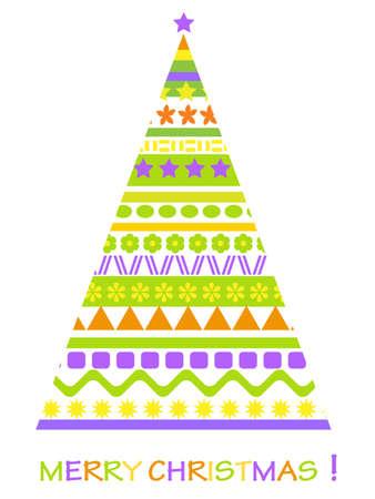 christmass: abstract christmass tree card