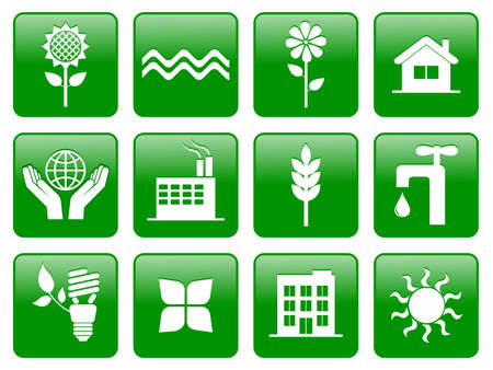 Earth conservation and ecology icon set Stock Vector - 8155622