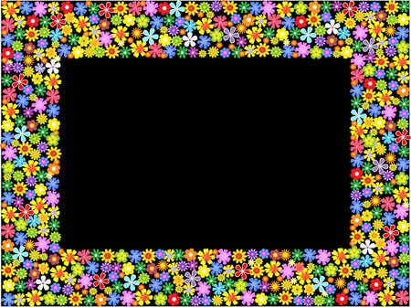 bright floral frame.vector illustration