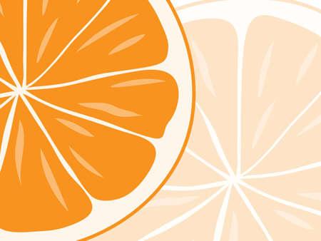 background of orange slices.vector illustration Vector