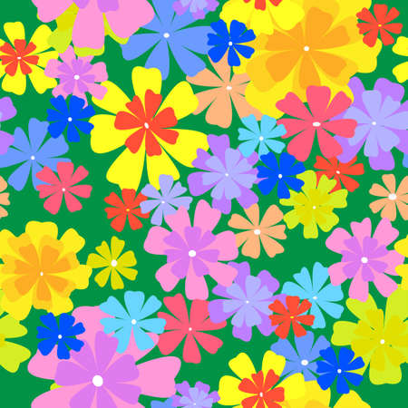 bright  seamless  floral background.vector illustration Illustration