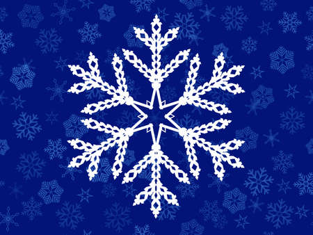 vector seamless   background of  snowflakes Vector