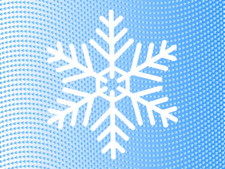 snowflake on the background of wavy lines of blue diamonds  Vector
