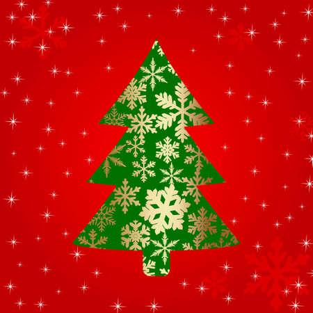 spruse:  christmas tree of snowflakes
