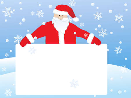 santa claus  with banner Illustration
